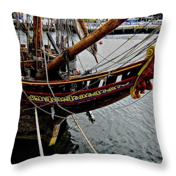 Before Setting Sail Throw Pillow by Douglas Barnard