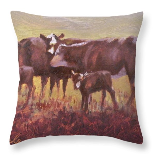Beginnings Throw Pillow by Mia DeLode