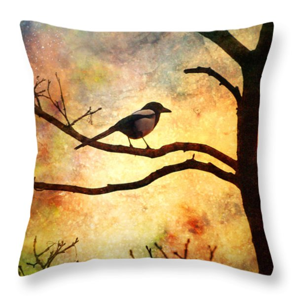 Believing In The Morning Throw Pillow by Tara Turner