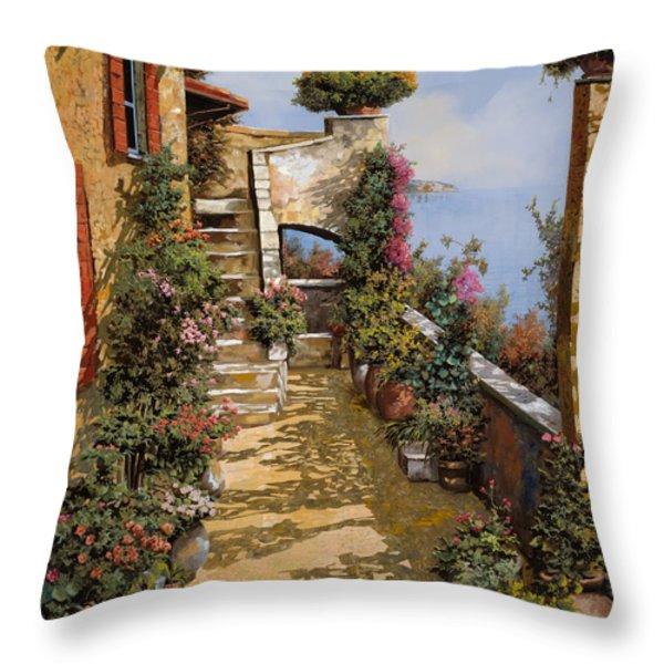 bello terrazzo Throw Pillow by Guido Borelli