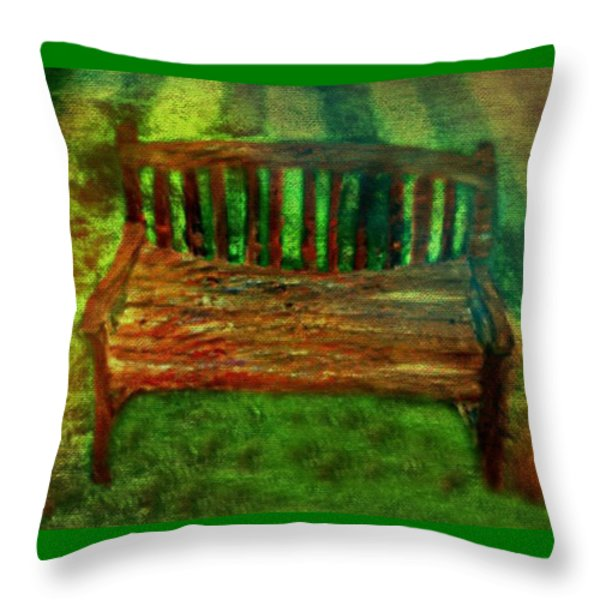 Throw Pillows On Clearance : Bench Seat Painting by Rainbow Creations