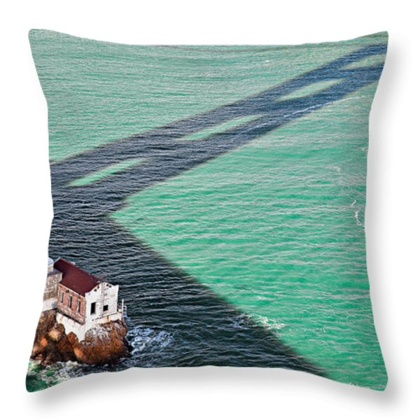 Beneath The Golden Gate Throw Pillow by Dave Bowman