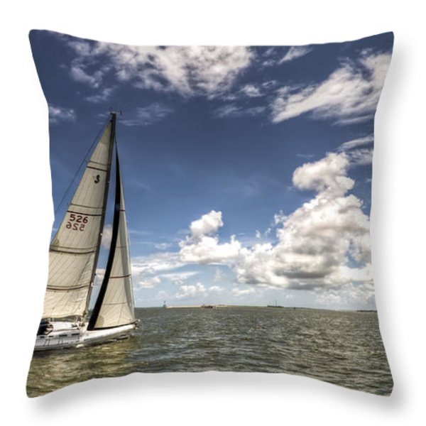 Beneteau First 40.7 Throw Pillow by Dustin K Ryan