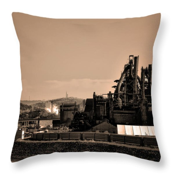 Bethlehem Steel Throw Pillow by Bill Cannon