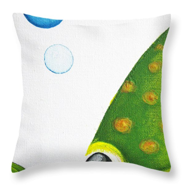Betta Bubble Throw Pillow by Oiyee  At Oystudio