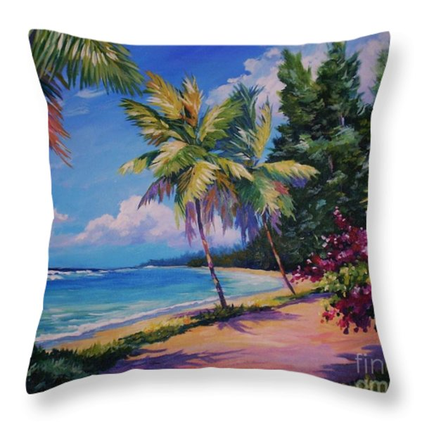 Between The Palms 20x16 Throw Pillow by John Clark