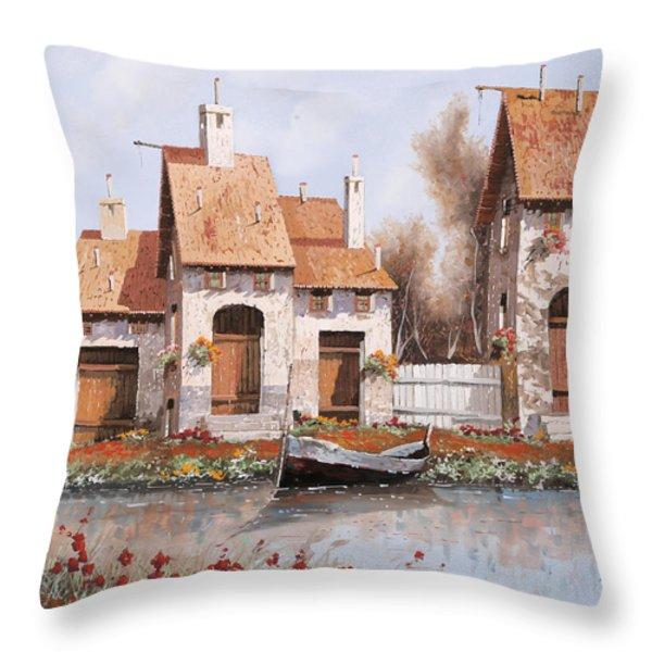 Bianca Throw Pillow by Guido Borelli