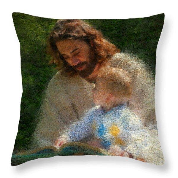 Bible Stories Throw Pillow by Greg Olsen