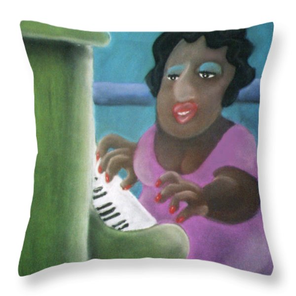 Big Mama Throw Pillow by Caroline Peacock