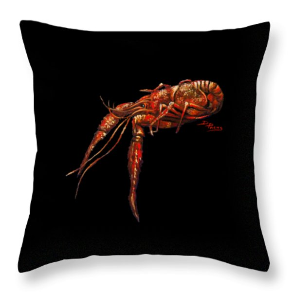Big Red Throw Pillow by Dianne Parks