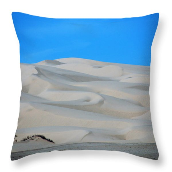 Big Sand Dunes In Ca Throw Pillow by Susanne Van Hulst