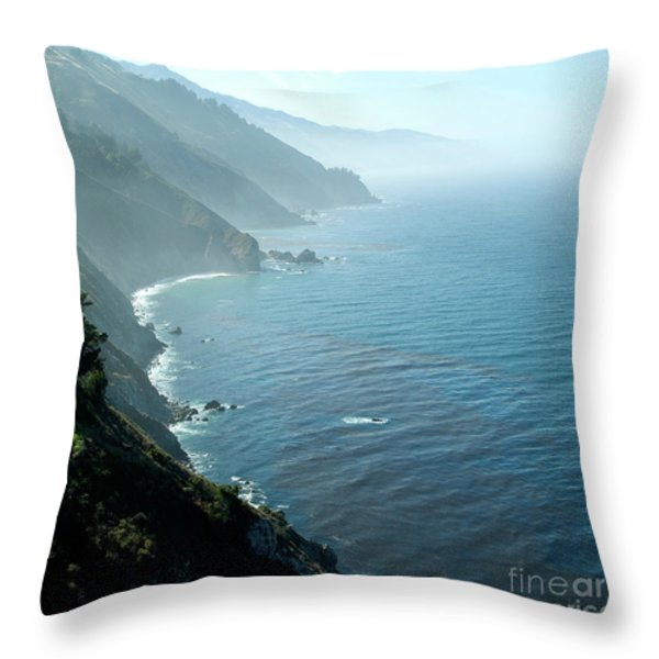 Big Sur Majesty Throw Pillow by Charlene Mitchell