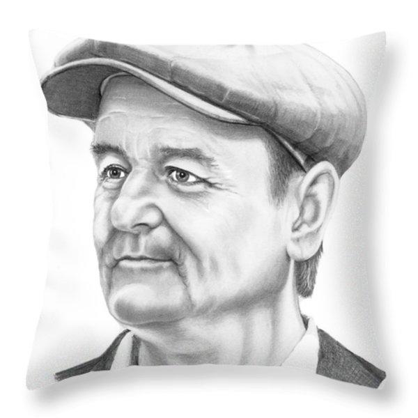 Bill Murray Throw Pillow by Murphy Elliott