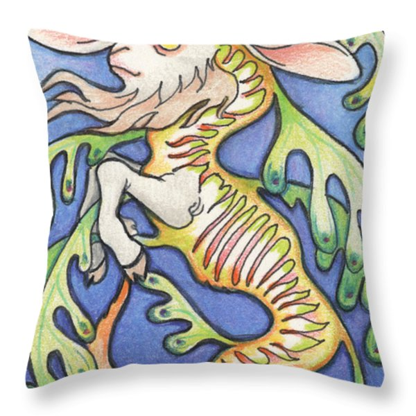 Billy Dragon Throw Pillow by Amy S Turner