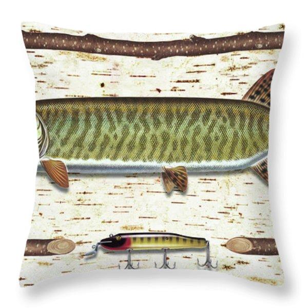 Birch Musky Throw Pillow by JQ Licensing