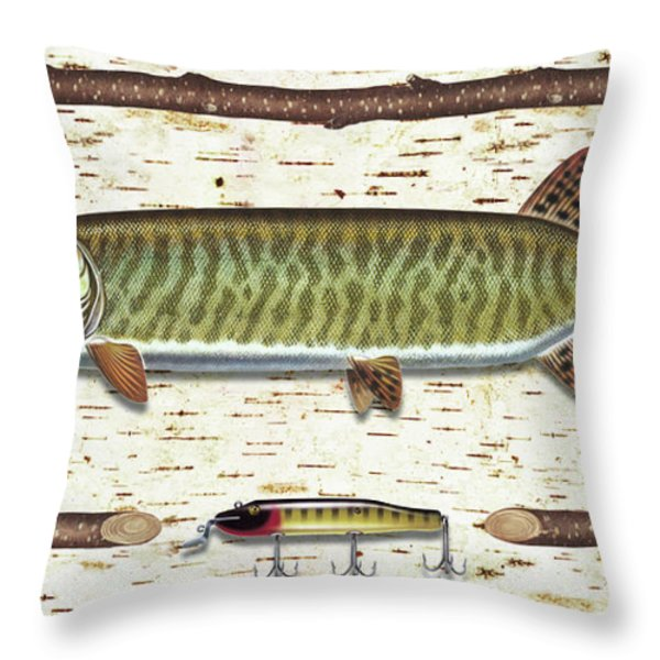 Birch Musky Throw Pillow by JQ Licensing