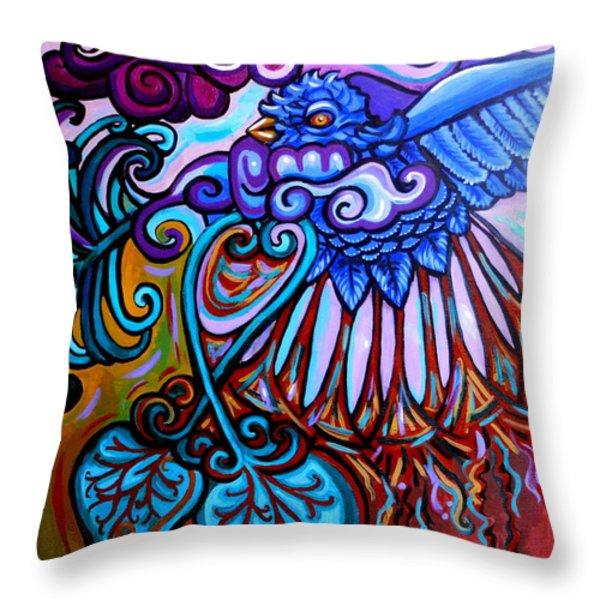 Bird Heart II Throw Pillow by Genevieve Esson