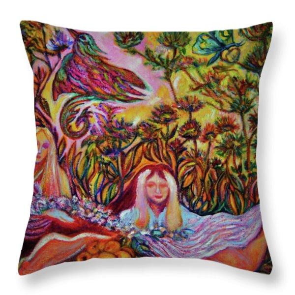 Bird Of Paradise II -art Deco Throw Pillow by Gunter  Hortz