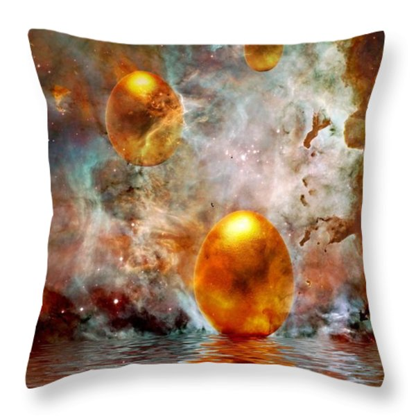 Birth Throw Pillow by Photodream Art