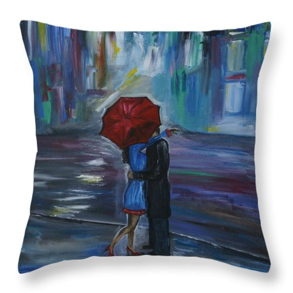 Bisous Throw Pillow by Leslie Allen