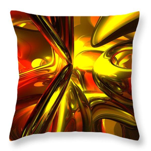 Bittersweet Abstract Throw Pillow by Alexander Butler