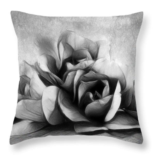 Black And White Is Beautiful Throw Pillow by Georgiana Romanovna