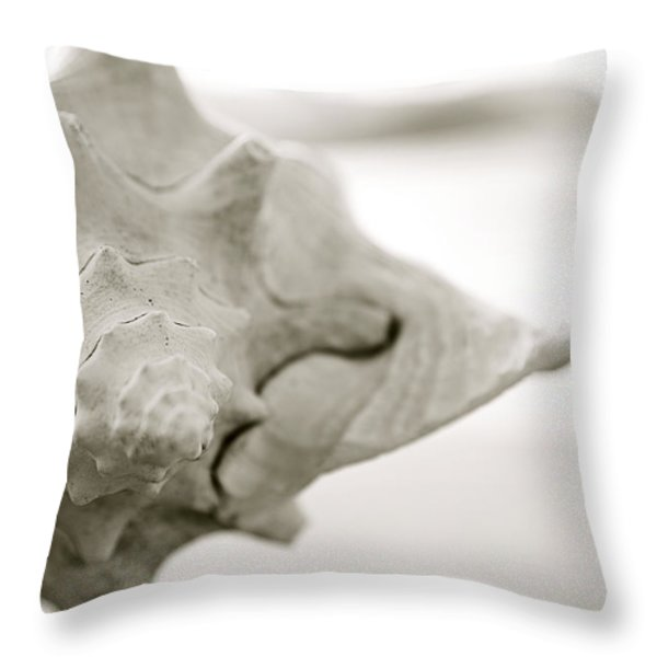 Black And White Seashell Throw Pillow by Kicka Witte - Printscapes