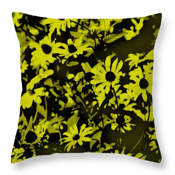 Black Eyed Susan's Throw Pillow by Bill Cannon