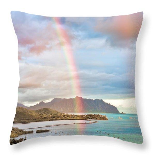 Black Friday Rainbow Throw Pillow by Dan McManus