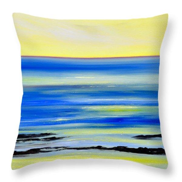 Throw Pillows - Black Lava Sunset 2 Throw Pillow by Gina De Gorna