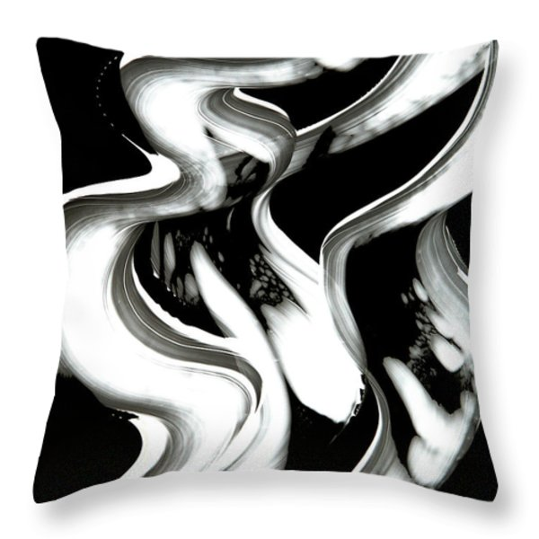 Black Magic Inverted Throw Pillow by Sharon Cummings