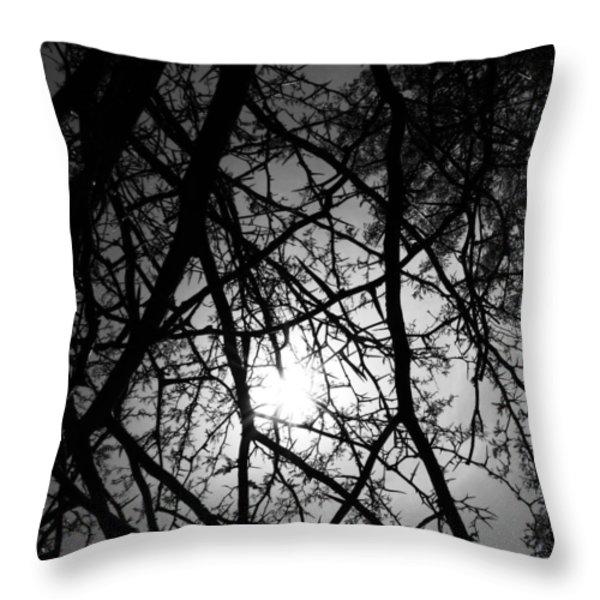 Black Walnut Spikes Throw Pillow by Anna Villarreal Garbis