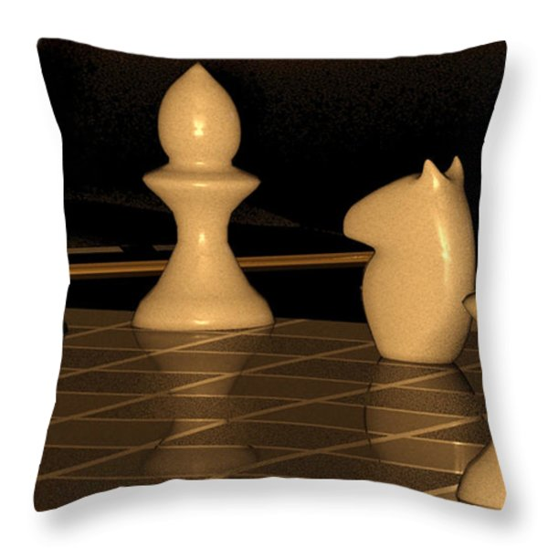 Blackburnes mate Throw Pillow by James Barnes