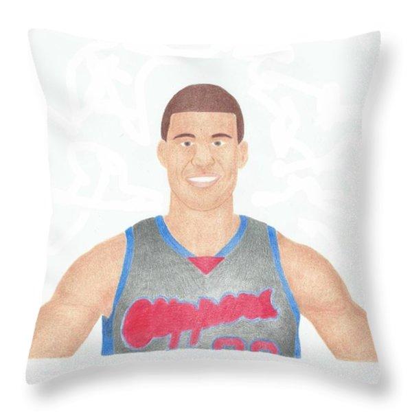 Blake Griffin Throw Pillow by Toni Jaso