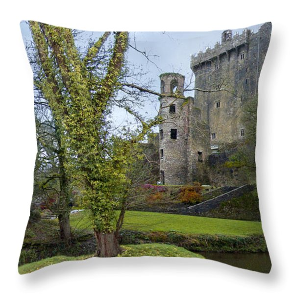 Blarney Castle 3 Throw Pillow by Mike McGlothlen