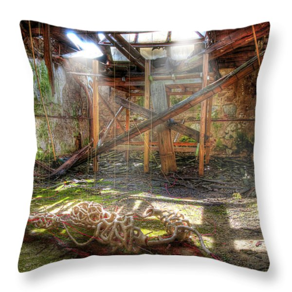 Bloody Cell Throw Pillow by Svetlana Sewell