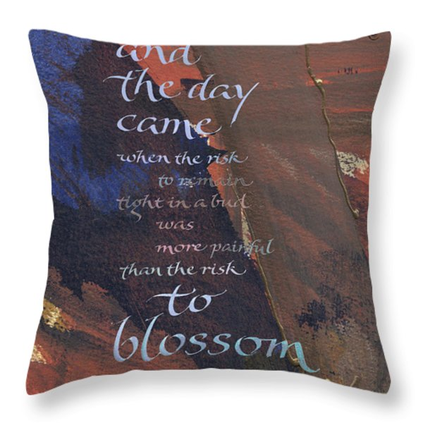 Blossom II Throw Pillow by Judy Dodds