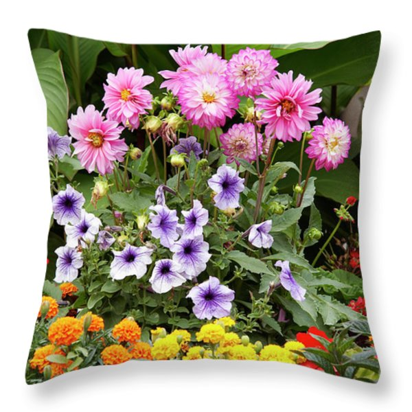Blossoming Flowers Throw Pillow by Michal Boubin