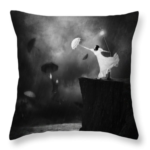 Blowin' In The Wind Throw Pillow by Erik Brede