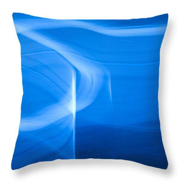 Blue Abstract 2 Throw Pillow by Mark Weaver