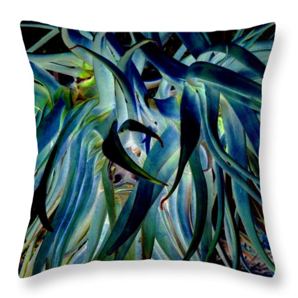 Blue Abstract Art Lorx Throw Pillow by Rebecca Margraf