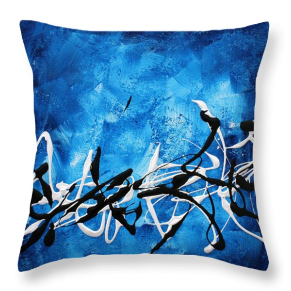 Blue Divinity II By Madart Throw Pillow by Megan Duncanson