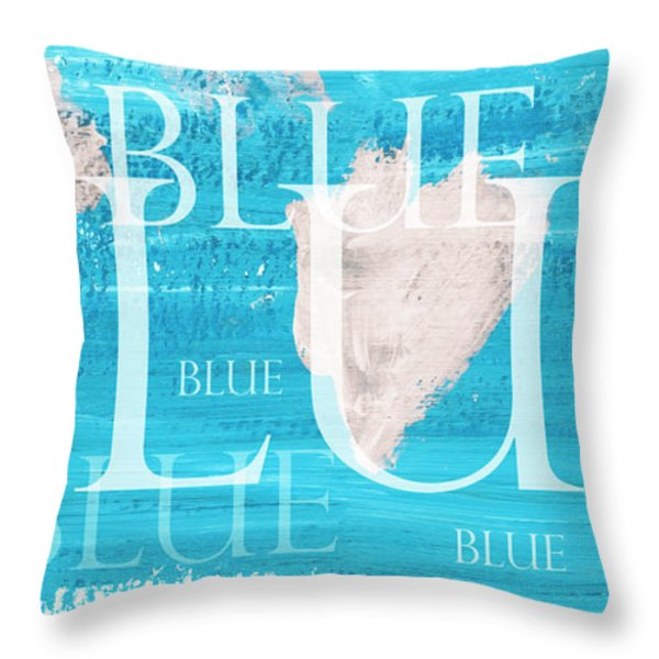 Throw Pillow featuring the painting Blue by Frank Tschakert