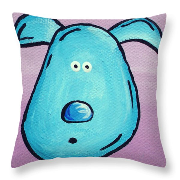 Blue Throw Pillow by Jera Sky