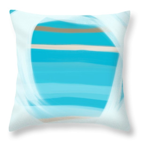 Throw Pillow featuring the painting Blue Lagoon by Frank Tschakert