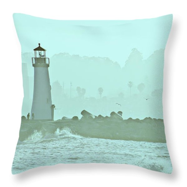 Blue Mist 3 Throw Pillow by Marilyn Hunt