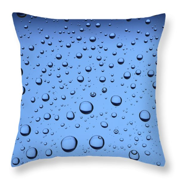 Blue Water Bubbles Throw Pillow by Frank Tschakert