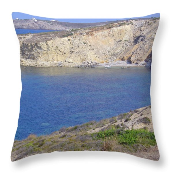 Blue Wonder  Throw Pillow by Rod Johnson