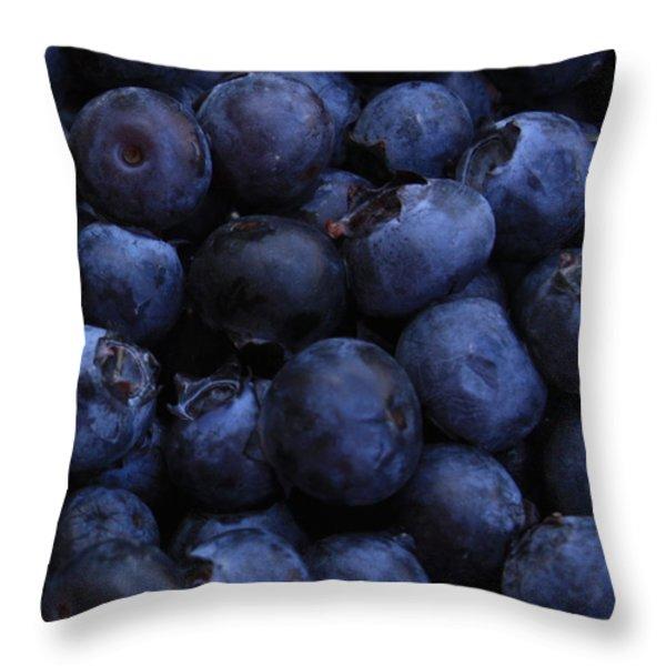 Blueberries Close-Up - Vertical Throw Pillow by Carol Groenen