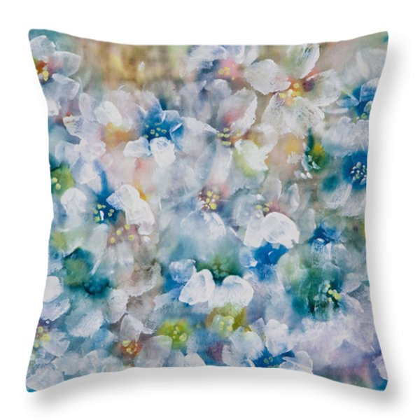 Bluebonnet Throw Pillow by Don  Wright